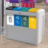 Papelera de reciclaje Nexus® Evolution Quad